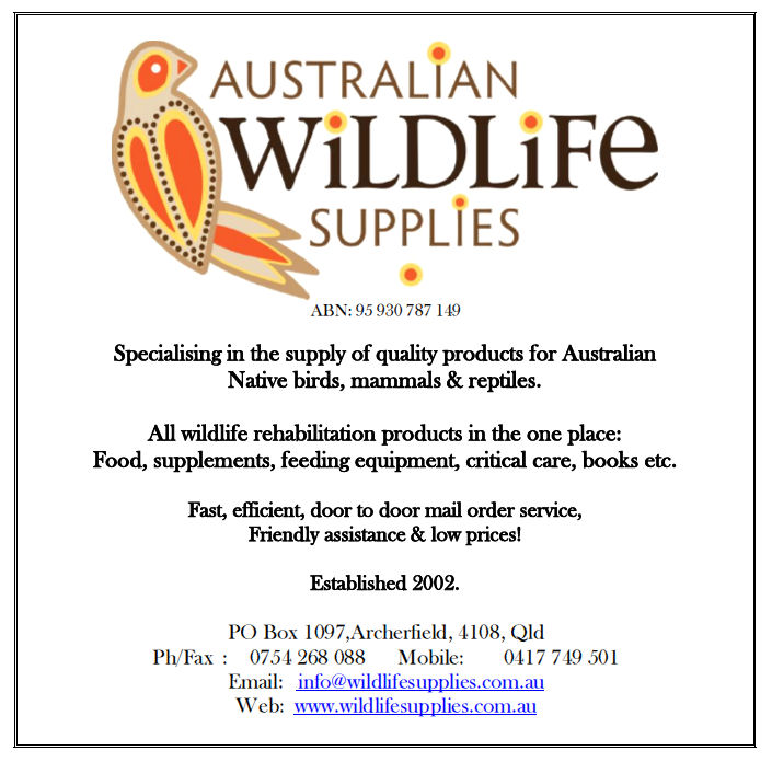 Australian Wildlife Supplies Advertising